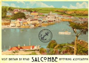 Salcombe 30s Car Travel Advertisement